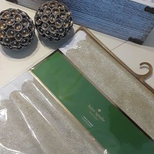 NWT Kate Spade Gold Table Runner